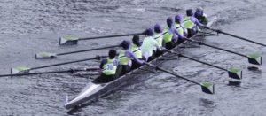 Picture of crew rowing boat
